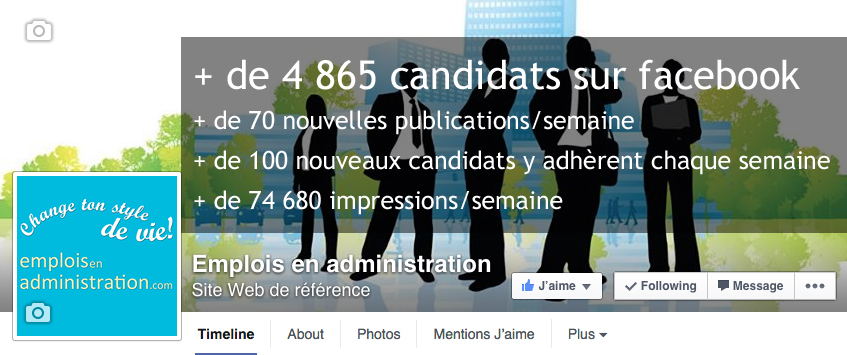 Page Facebook - emploisenadministration.com